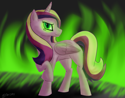 Sexy Green Flames by SilverPup88
