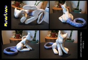 Mewtwo Clay Sculpture by Kirsui