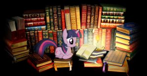 Twilight reading desktop by spikeslashrarity