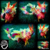 Handmade OOAK Poseable Phoenix Dragon Commission by SonsationalCreations