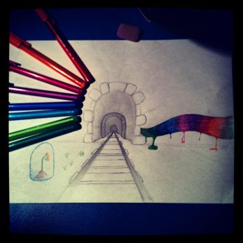 A Tunnel From Rainbows by TheZomgKitty