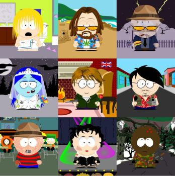 South Park People by WildPencil