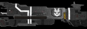 HALO UNSC Missile Cruiser WIP by adimatters