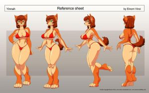 Reference sheet Yinnah by Einom