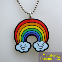 Rainbow Necklace by ManifestedDreams