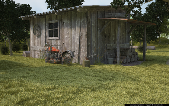 Old shack by slographic