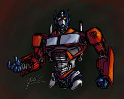 Optimus Prime by BenjaminGalley