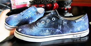 Galaxy Shoes by xxMoonwish