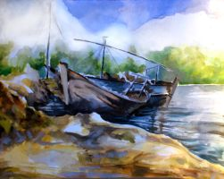 Boats by johnlanthier