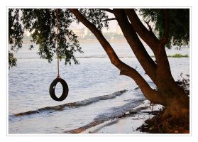 Tree with a swing by Barefeet-in-the-rain