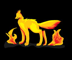 Fire Wolf by prussiawashere999