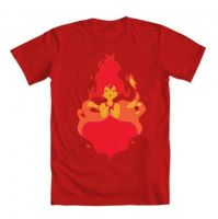 Flame princess t-shirt IN RED! by Kipkila