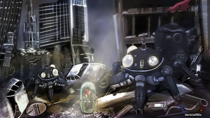 Toys Ghost in Shell Action Figures in ACTION iPad by DarkWolf80s