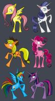 My Little Tim Burton Ponies by FrauV8