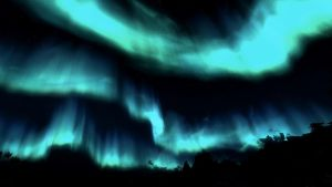 The Aurora Borealis [Skyrim background 2] by Cynder2d
