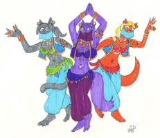 Belly Dancing Cats by EmperorNortonII