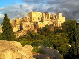 Acropolis sunset by KRHPhotography