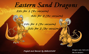 Eastern Sand Dragons - Project Banner/Ovipets by starscreamfan10100