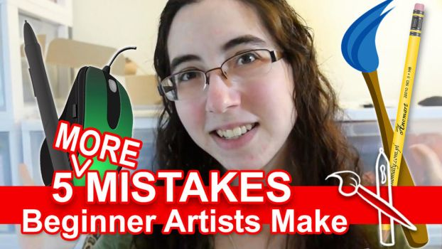 5 MORE Mistakes Beginner Artists Make [VID] by sambeawesome