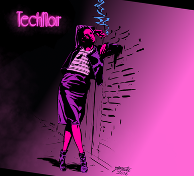Tech noir (Reddit commission) by S-Forester