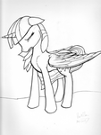 Brush Pen Sad Twilight by DarkFlame75