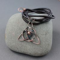 Copper pendant Triqueta by WhiteSquaw