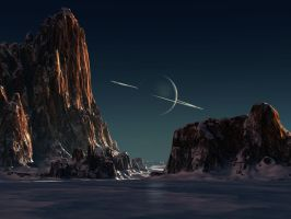 Homage to Chesley Bonestell by steve-burg
