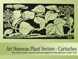 Vector Nouveau Plants - Dark by remittancegirl