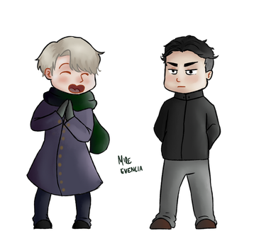 Victor and Otabek by MireEvencia