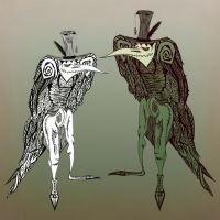 The crow-creatures (color version) by ADAtheQueenOfHEARTS