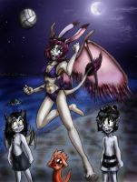 Moonlight Volleyball by Amelius