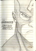 Notebook Sketches: Captain America by Men-dont-scream