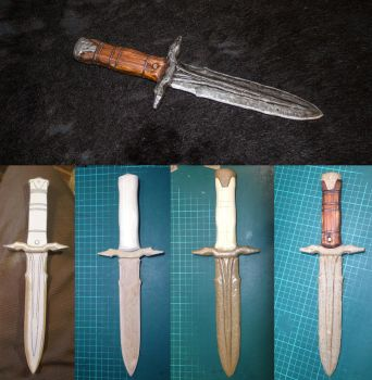 Skyrim Iron Dagger build stages by LordWobbler