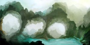 Quick landscape Painting by umerabbasi