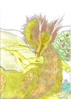 Tender Great gold dragon coloured by Sandragon