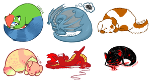 ::GA:: Sleepy Chibis by lizziecat1279