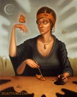 The Woman Who Paints Butterflies by jslattum