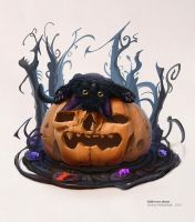 Halloween theme (cat 1) 26 10 2016 by An9reyART
