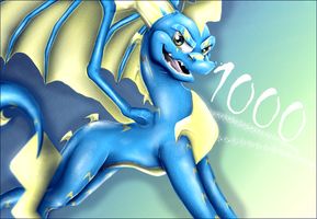 PICTURE NUMBER 1000 by IcelectricSpyro