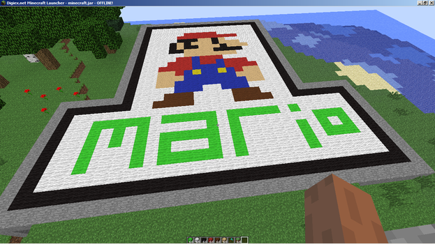 Minecrafted Mario by AlexAvila