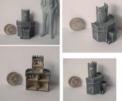 Dollhouse Castle for a Dollhouse by clevella