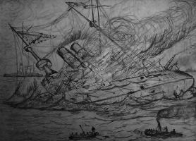 Kniaz Suvurov sinks at Tsushima by trafalgarhero