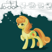Carrot Top Worries About the Sketch Train by Sarochan