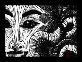 Block Print - Medusa by lilith-darkmoon