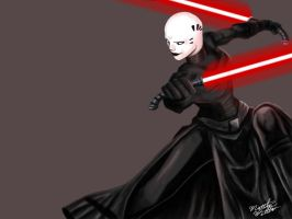 Asajj Ventress - Jedi Hunter by Jake-Kelton