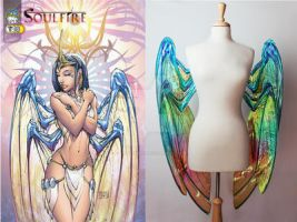 Comparison of Grace Wings from Soulfire by glittrrgrrl