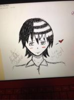Death The Kid Scribble! by CrypticCharmander