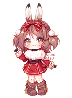 Annie Day 06 Snowshoe Hare! by Yamio
