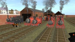 The Skarloey Railway Engines from the RWS by Sergeant-Sunflower