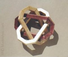 Borromean Rings wood model by RNDmodels